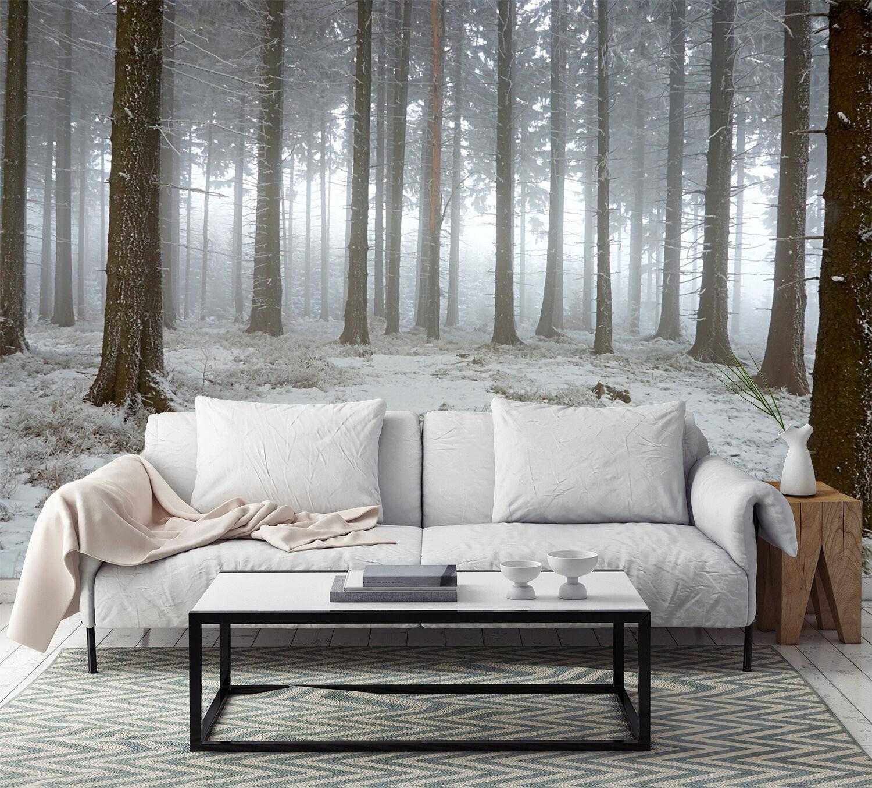 3D Snowed Forest 1115 WallPaper Murals Wall Print Decal Wall Deco AJ WALLPAPER