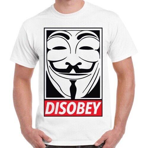 Disobey Vendetta Anonymous Mask Retro Cool Vintage Retro T Shirt 417