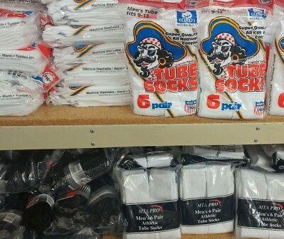 Wholesale Resale Lot 120 Pair 10 Dozens MENS Socks Crew Tube Ankle Made in USA