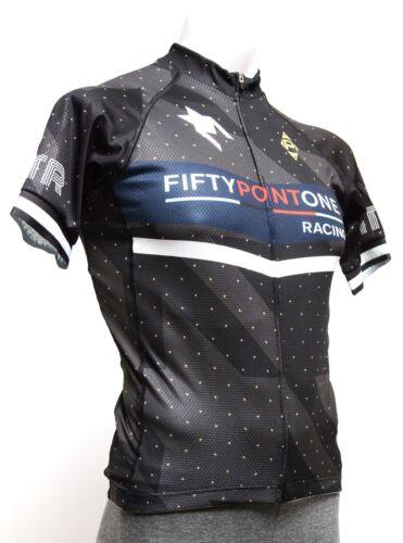 Panache Houndstooth Short Sleeve Cycling Jersey Men LARGE Black 50.1 Road Bike