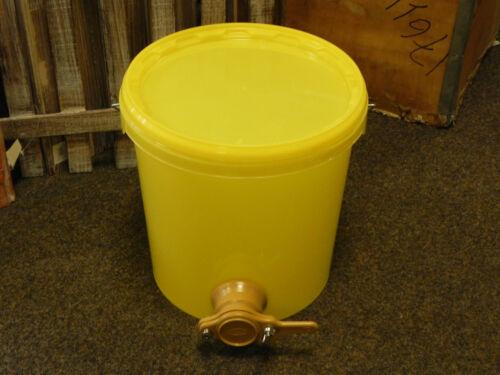 Abfülleimer,Abfüller 12,5kg gelb m.Quetschhahn,Imker,Imkerei,Honig abfüllen