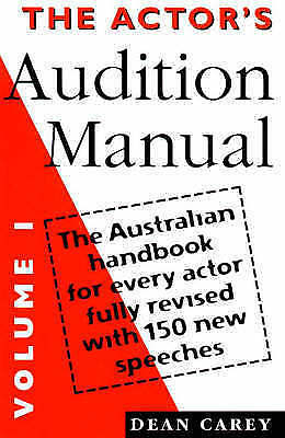1 of 1 - The Actor's Audition Manual: Volume 1..DEAN CAREY...VGC  mnf 389