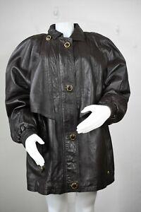 e85e72ffa87 vintage Yves Saint Laurent leather jacket XL coat 80's 90's brown ...