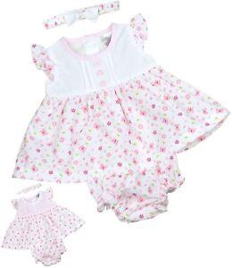 c73c519b3f75 BabyPrem Baby Girls Clothes Pink   White Dresses NB 0-3 3-6 m Dress ...