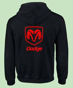 Dodge Ram Hoodie >> Zippered, Hooded Sweat Shirt, Motor Sports, Truck, Auto, Dodge Ram, Gildan,Black