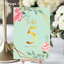 Personalised-Floral-Theme-Wedding-Table-Numbers-Name-Place-Cards-A5-A6-A7 thumbnail 8