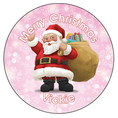 Personalised Father Christmas Xmas Santa Stickers Present Gift Seal Label 870