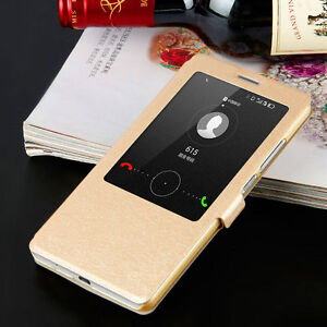 finest selection d667f 0b76b Details about For Huawei Ascend Mate 7 Mate 8 Flip S-VIEW Smart Case  Leather Cover
