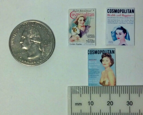 Dollhouse Miniature Vintage Magazines Books Cosmo 1:12 scale F52B Dollys Gallery