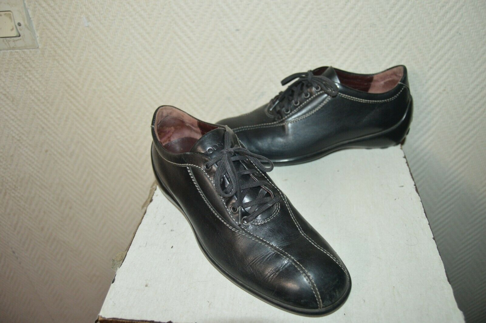 Chaussure A 5 Taille Chaussures Lacet 36 Tod's Leather Cuir eH2WYE9bDI
