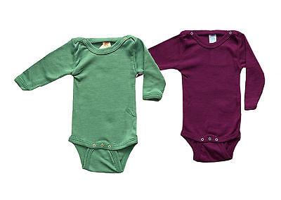 ENGEL Bodysuit MERINO WOOL SILK baby newborn top body kimono organic press-studs