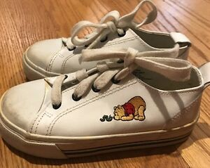 f598e4fc0bb3dd Image is loading WALT-DISNEY-Winnie-the-Pooh-LEATHER-Athletic-Sneakers-