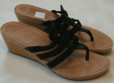 CURFEW MADDIE black w white stitch Mary Jane style sandals//dress shoes,size 6-11