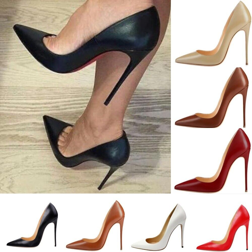 Women Pumps High Heels shoes 12cm Stiletto Pointed Toe Sexy Party shoes Office