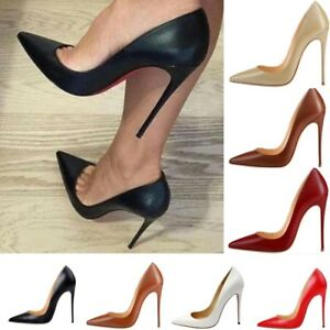 ff8b46dbe066 Women Pumps High Heels Shoes 12cm Stiletto Pointed Toe Sexy Party ...
