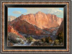 "Hand painted Original Oil Painting art Landscape mountain on canvas 24""x36"""