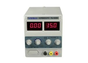Details about YIHUA 1502DD Adjustable Variable Output DC Power Supply LED  Display 15V 2A