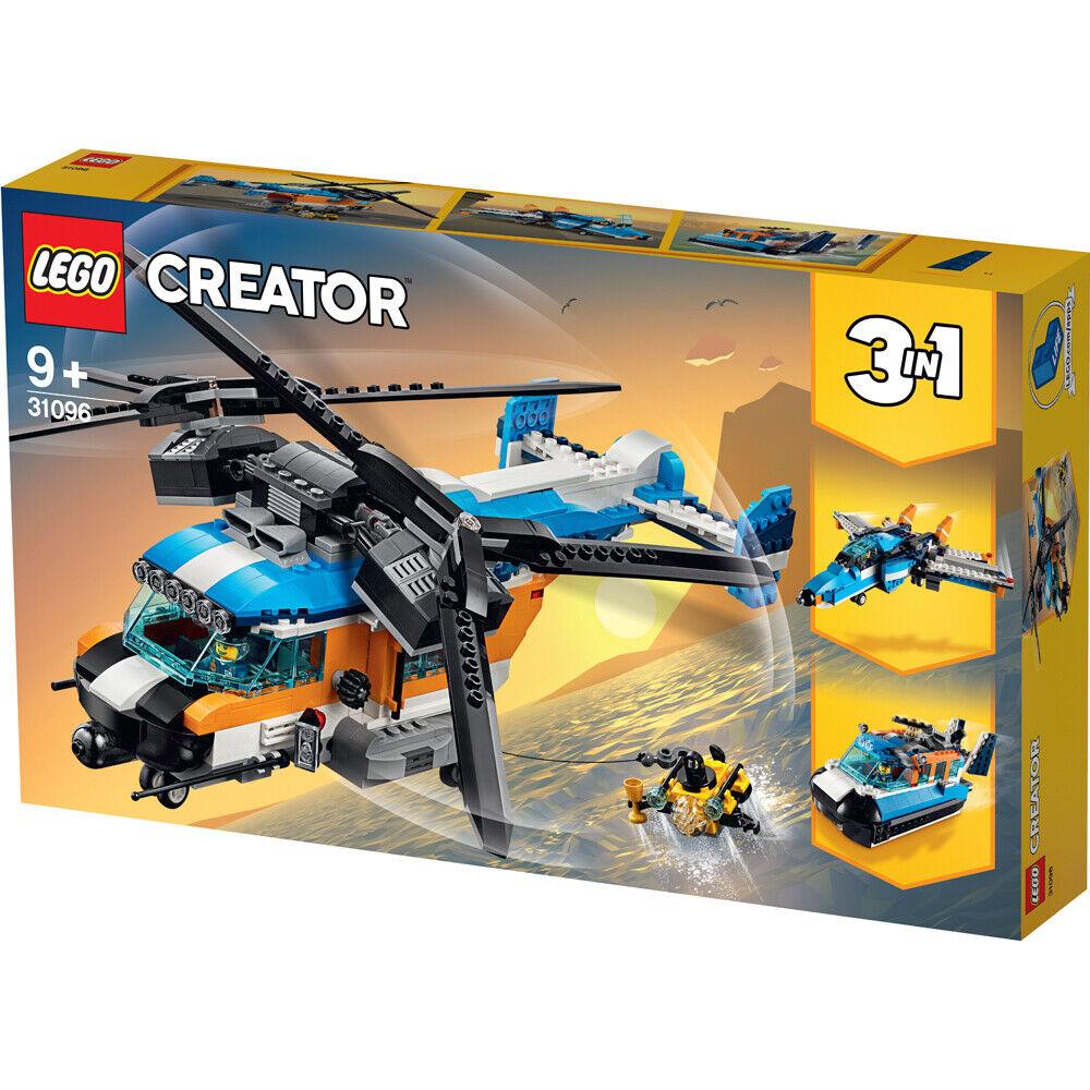 Lego Creator Helicóptero de doble rojoor 3 en 1 Juego de construcción - 31096