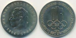CréAtif Rda Médaille Jeux Olympiques, W. âmes Binder, Promotion Olympique Idée 1974-afficher Le Titre D'origine