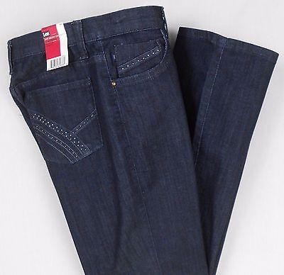 Lee Jeans Size 6 M Blue Stretch Denim Comfort Just Below Waist Bootcut Women