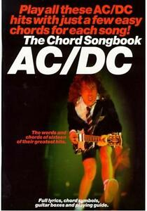 AC-DC-Guitar-Chord-Song-Book-NEW-Music-Lyrics-Inc-Highway-To-Hell