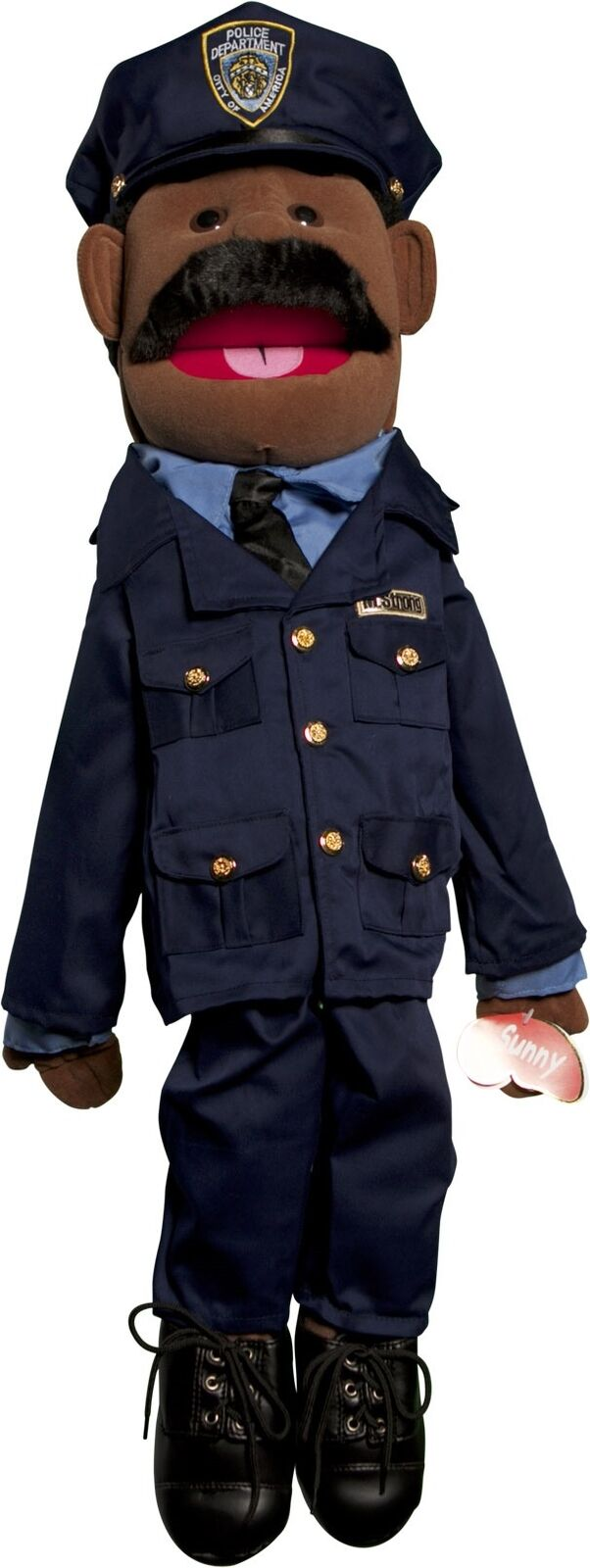 Sunny Toys GS4308B 28 In. Ethnic Dad Policeman Full Body Puppet