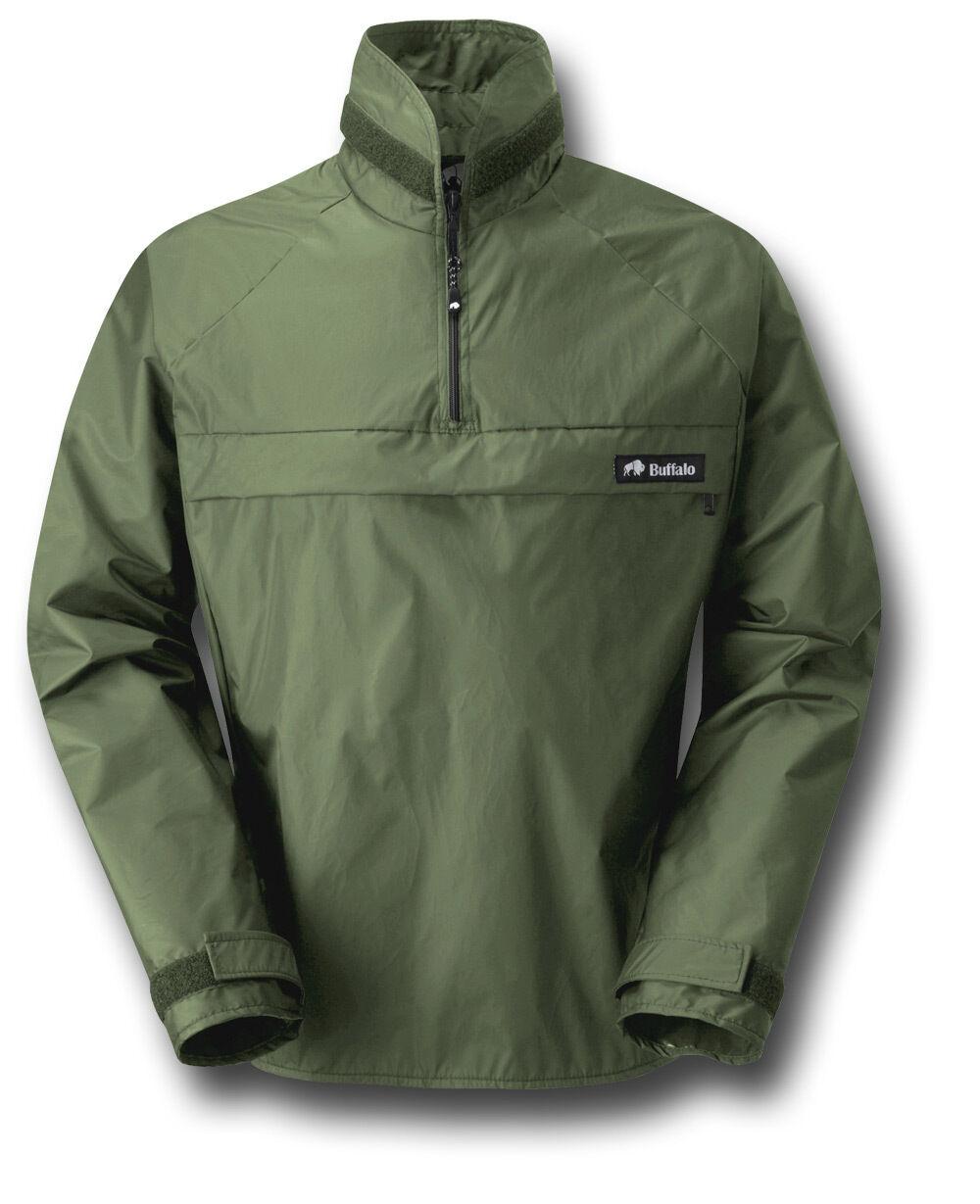 Buffalo Pertex Windshirt a prueba de viento Sin Forro, verde O Negro [70189]
