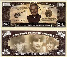 Davy Jones - The Monkeys - In Loving Memory of Million Dollar Novelty Money