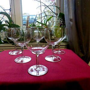 6-Bicchieri-da-Vino-Rossa-in-Cristallo-di-Baccarat-Modello-Rabelais-Firmato