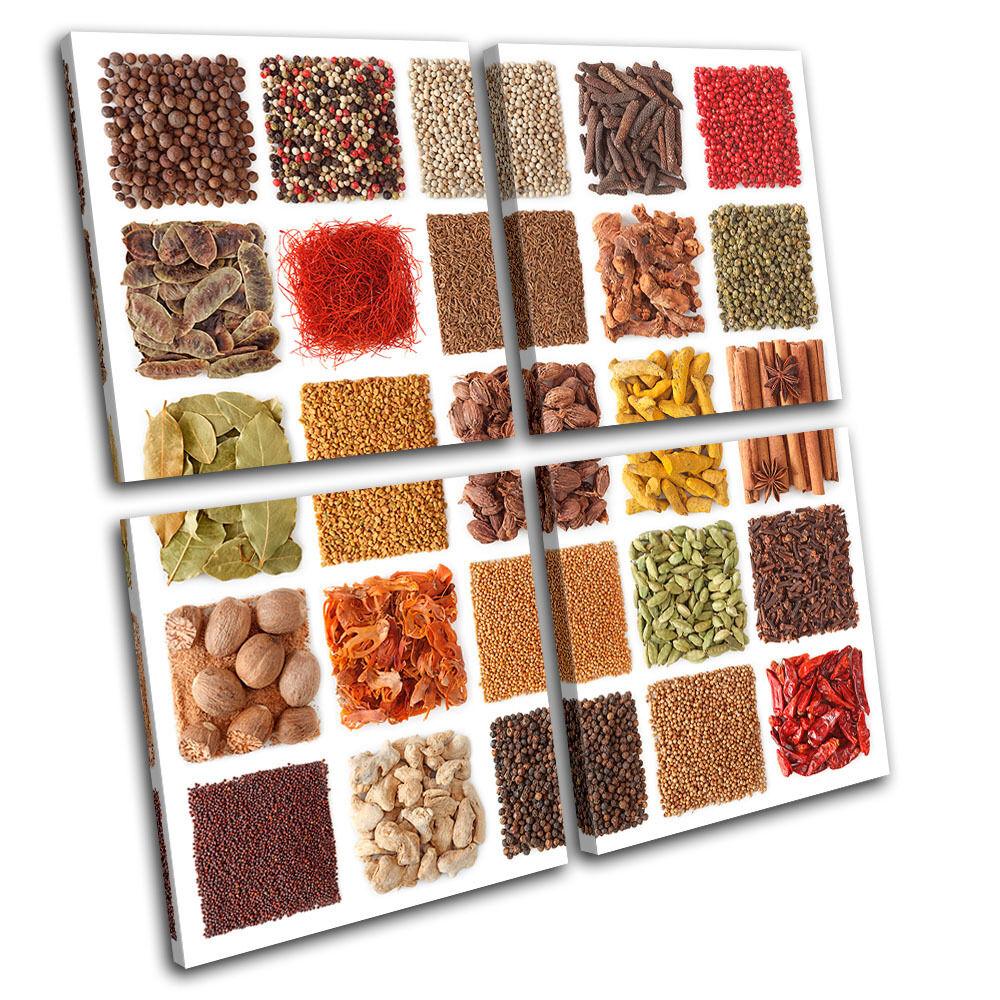 Spices Food Food Food Kitchen MULTI TELA parete arte foto stampa 9be887