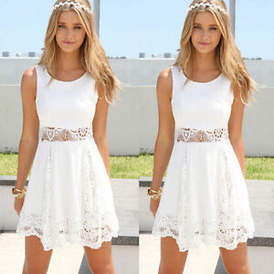 Women-Summer-Casual-Sleeveless-Party-Evening-Cocktail-Lace-Short-Mini-Dress