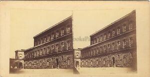 Florence Firenze Palais Pittiitalie Italia Foto Stereo Vintage Albumina Ca 1860