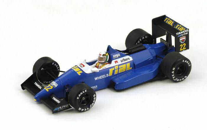 ofrecemos varias marcas famosas Rial arc1 a. de Cesaris 1988    22 Collision Belgium gp 1 43 Model s4311  gran descuento