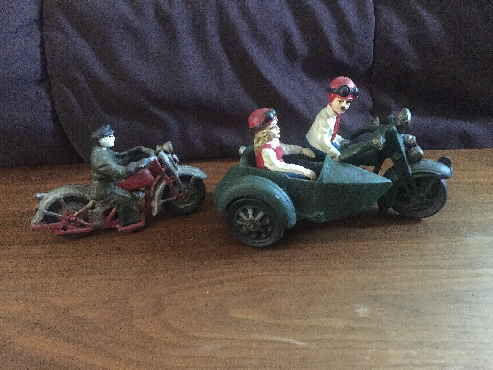 Cast Iron Motorcycle Toy Lot