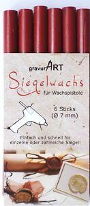 gravurART-7mm-Siegelwachs-flexibel-fuer-Siegepistole-6er-Pack-Farbauswahl-35g