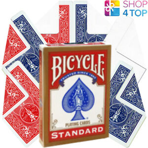 BICYCLE-STANDARD-RED-DECK-6-MAGIC-TRICKS-PLAYING-CARDS-BLANK-DOUBLE-BACK-NEW