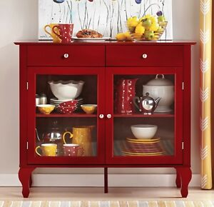 Image Is Loading Small Buffet Cabinet Dining Room Storage Red