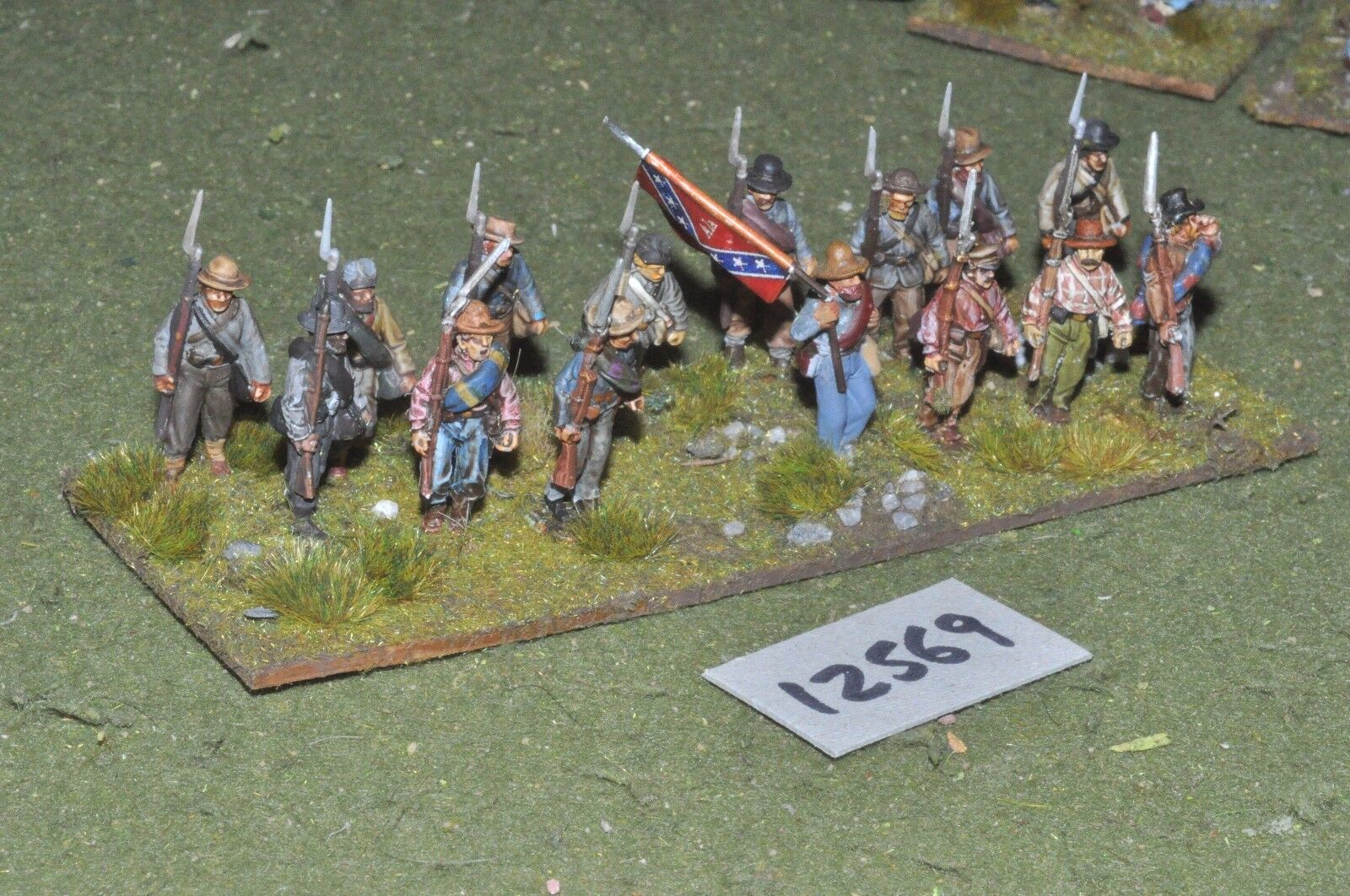 25mm ACW   confederate - american civil war inf plastic 16 figs - inf (12569)