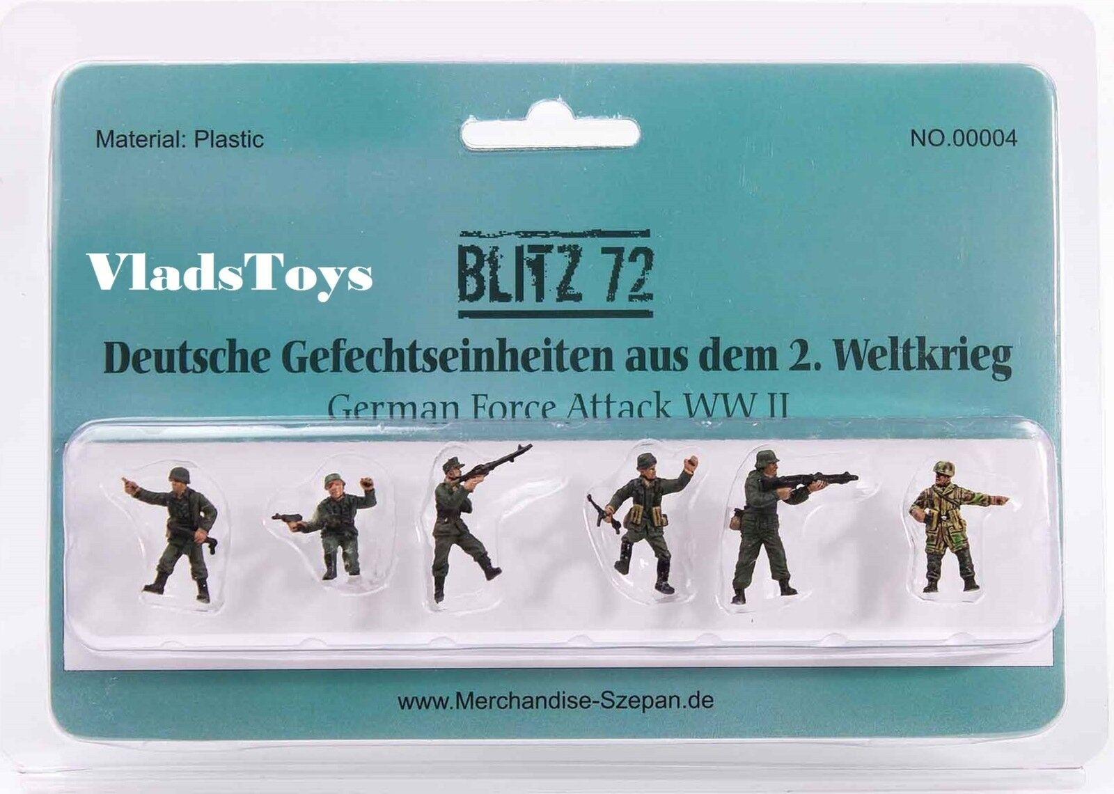 Blitz72 1:72 Set Seconda Guerra Mondiale Tedesco Attacco Forze Personaggi Set 1:72 di 6 2f9d72