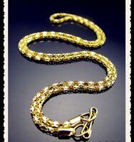 10 Stück 50 cm lang Schmuck vergoldet Gold Ketten Halsketten  NEU Restposten !