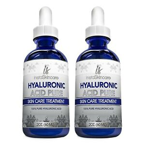 2-Pack-100-Pure-HYALURONIC-ACID-Anti-Aging-Wrinkles-Intense-Hydration-2x-2oz