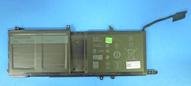 NEW AUTHENTIC Alienware 15 R3 17 R4 Laptop Battery 99WH 11.4V (Broken Clip)9NJM1