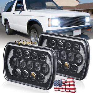 2x 85w 5x7 7x6 Led Cree Headlights For Jeep Cherokee Xj 82 94 Chevy S10 Pickup Ebay