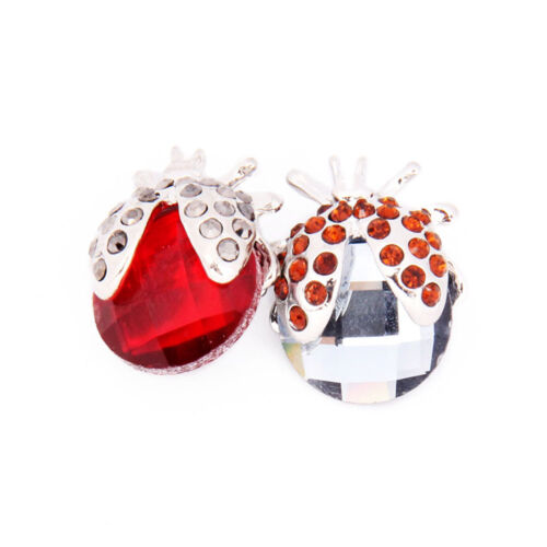 Rhinestone Resin Ladybug Snaps Buttons Charms Fit 18mm Snap Jewelry