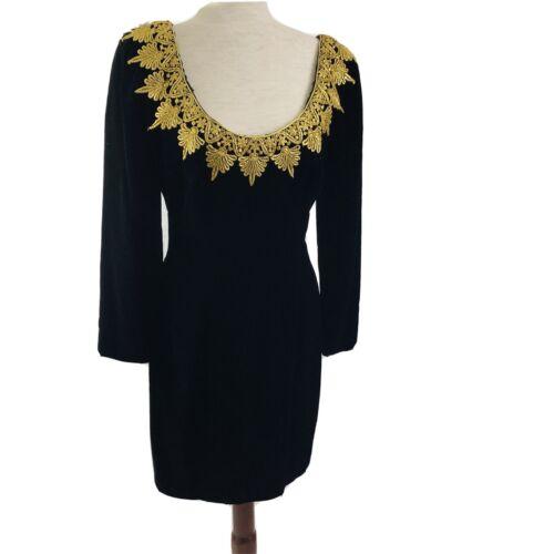 80s Vintage Velvet Mini Dress  Eugene Alexander Go