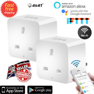 Aiiat Inteligente Wifi Smart Temporizador Enchufe de Reino Unido salida...