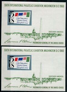USA-2-Stueck-Block-11-postfrisch-Briefmarkenausstellung-SIPEX-Washington