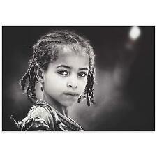 Ethnic Wall Art Beautiful Girl Image African People Photos on Metal