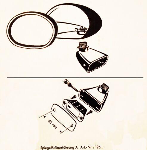 PLYMOUTH BARRACUDA Hemi AAR Cuda C 528 1970 71 72 73 74 BULLET BLACK MIRROR PAIR