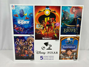 Disney-Pixar-5-Jigsaw-Puzzles-Dory-Coco-Incredibles-2-Brave-Ratatouille